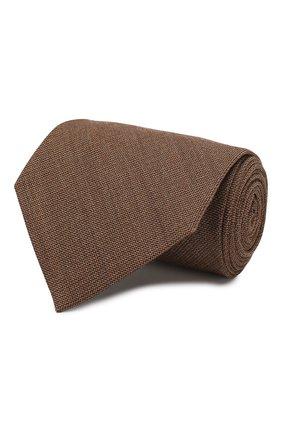 Мужской галстук из смеси шелка и шерсти TOM FORD светло-коричневого цвета, арт. 6TF20/XTF   Фото 1