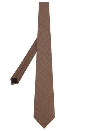 Мужской галстук из смеси шелка и шерсти TOM FORD светло-коричневого цвета, арт. 6TF20/XTF   Фото 2