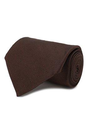 Мужской шелковый галстук TOM FORD коричневого цвета, арт. 6TF27/XTF   Фото 1
