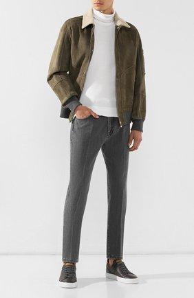 Мужские джинсы ERMENEGILDO ZEGNA серого цвета, арт. UTL03/JL02 | Фото 2