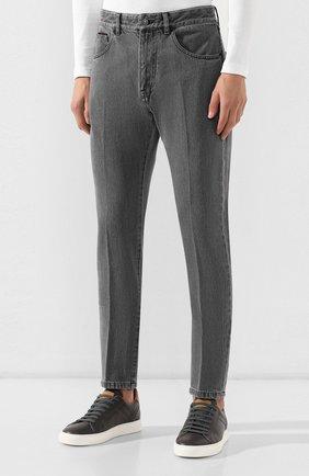 Мужские джинсы ERMENEGILDO ZEGNA серого цвета, арт. UTL03/JL02 | Фото 3