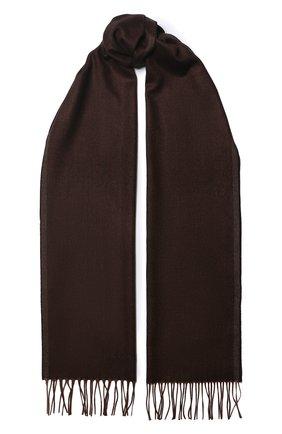 Мужской шарф из смеси шелка и кашемира CORNELIANI коричневого цвета, арт. 84B330-9829045/00 | Фото 1