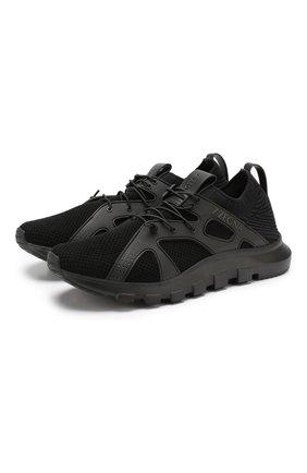 Мужские текстильные кроссовки Z ZEGNA черного цвета, арт. A4300X-LHTPU | Фото 1