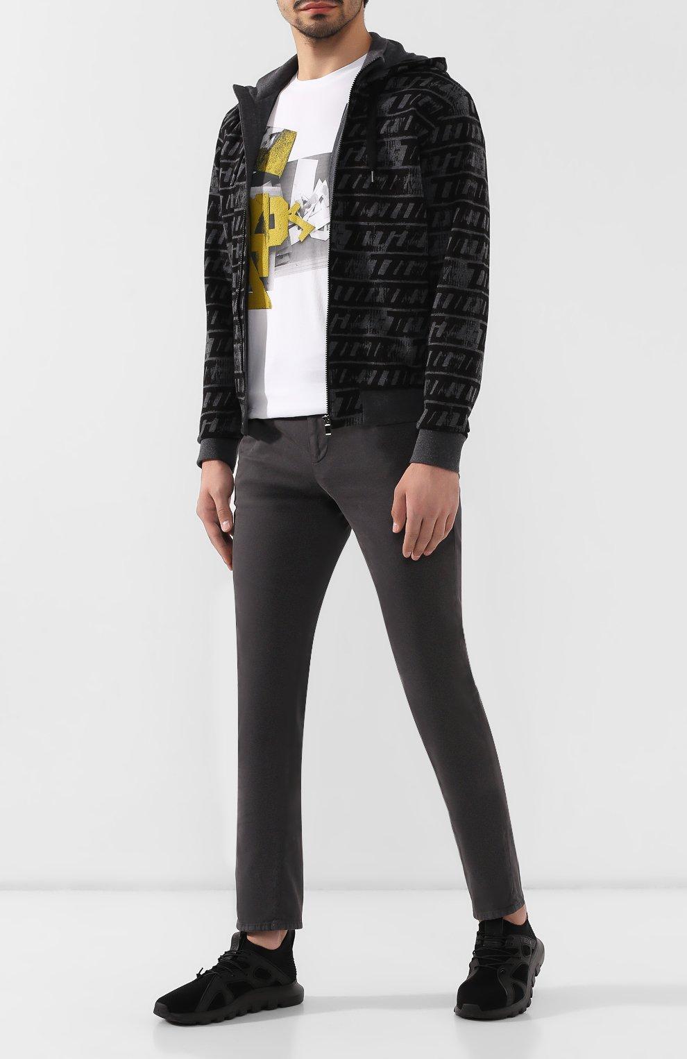 Мужские текстильные кроссовки Z ZEGNA черного цвета, арт. A4300X-LHTPU | Фото 2