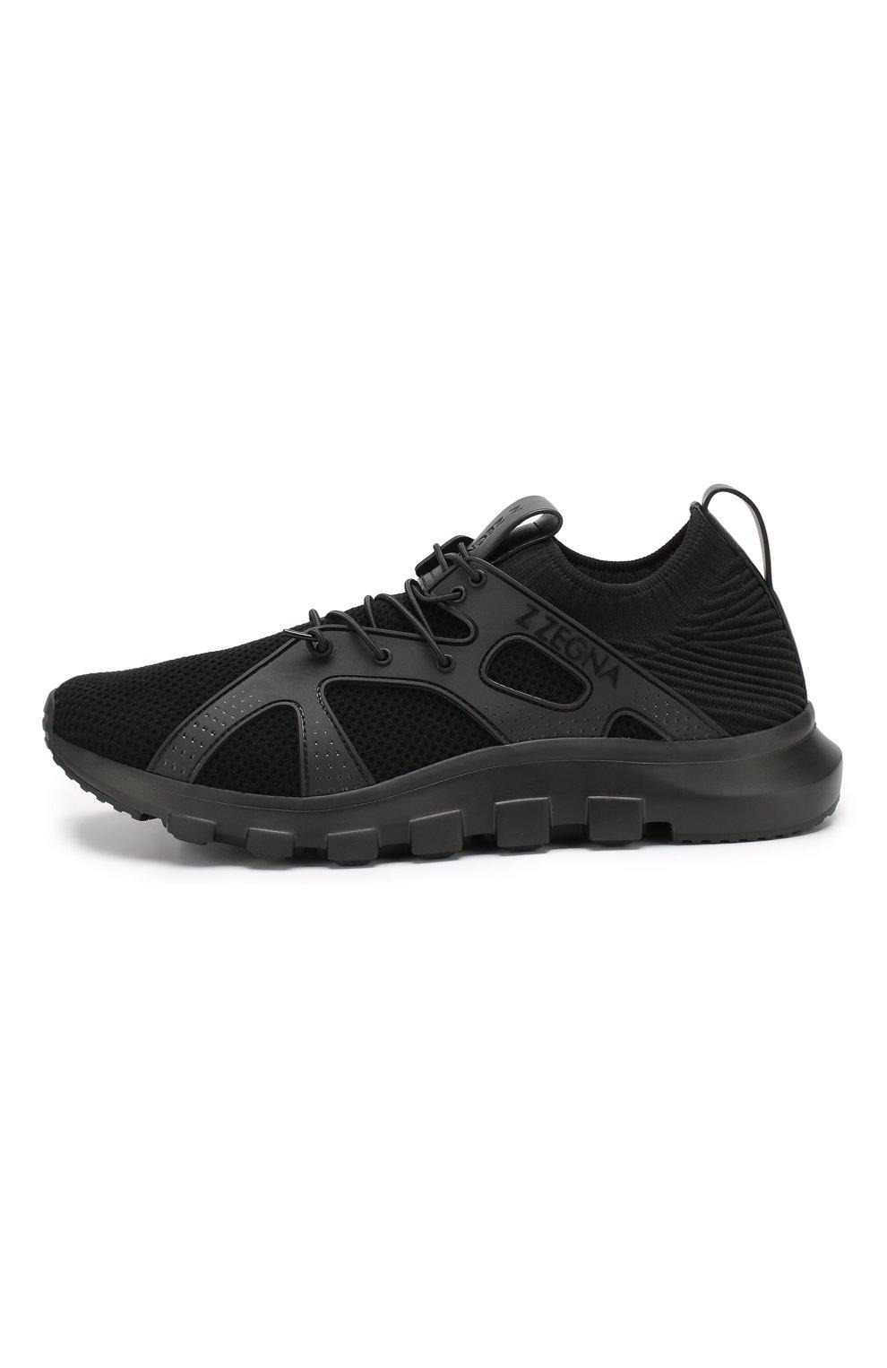 Мужские текстильные кроссовки Z ZEGNA черного цвета, арт. A4300X-LHTPU | Фото 3