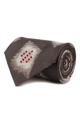 Мужской шелковый галстук GIORGIO ARMANI бежевого цвета, арт. 360054/9A806   Фото 1