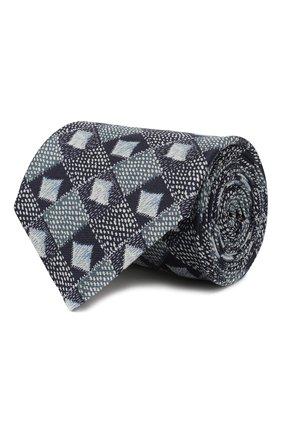 Мужской шелковый галстук GIORGIO ARMANI синего цвета, арт. 360054/9A807 | Фото 1