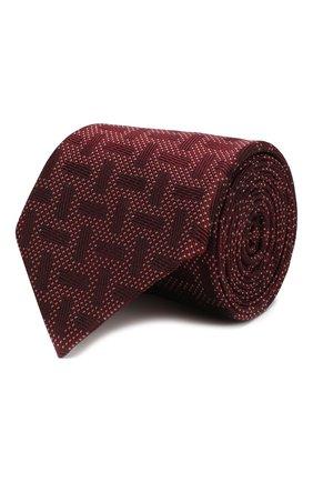 Мужской шелковый галстук GIORGIO ARMANI красного цвета, арт. 360054/9A940 | Фото 1