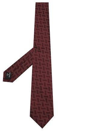 Мужской шелковый галстук GIORGIO ARMANI красного цвета, арт. 360054/9A940 | Фото 2