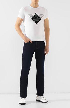 Мужские джинсы EMPORIO ARMANI синего цвета, арт. 6G1J45/1D0NZ | Фото 2