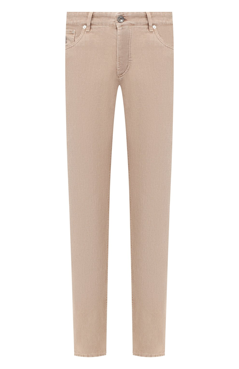 Мужские джинсы BRUNELLO CUCINELLI светло-бежевого цвета, арт. M051KB2210 | Фото 1