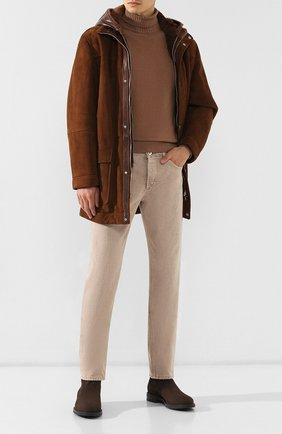 Мужские джинсы BRUNELLO CUCINELLI светло-бежевого цвета, арт. M051KB2210 | Фото 2