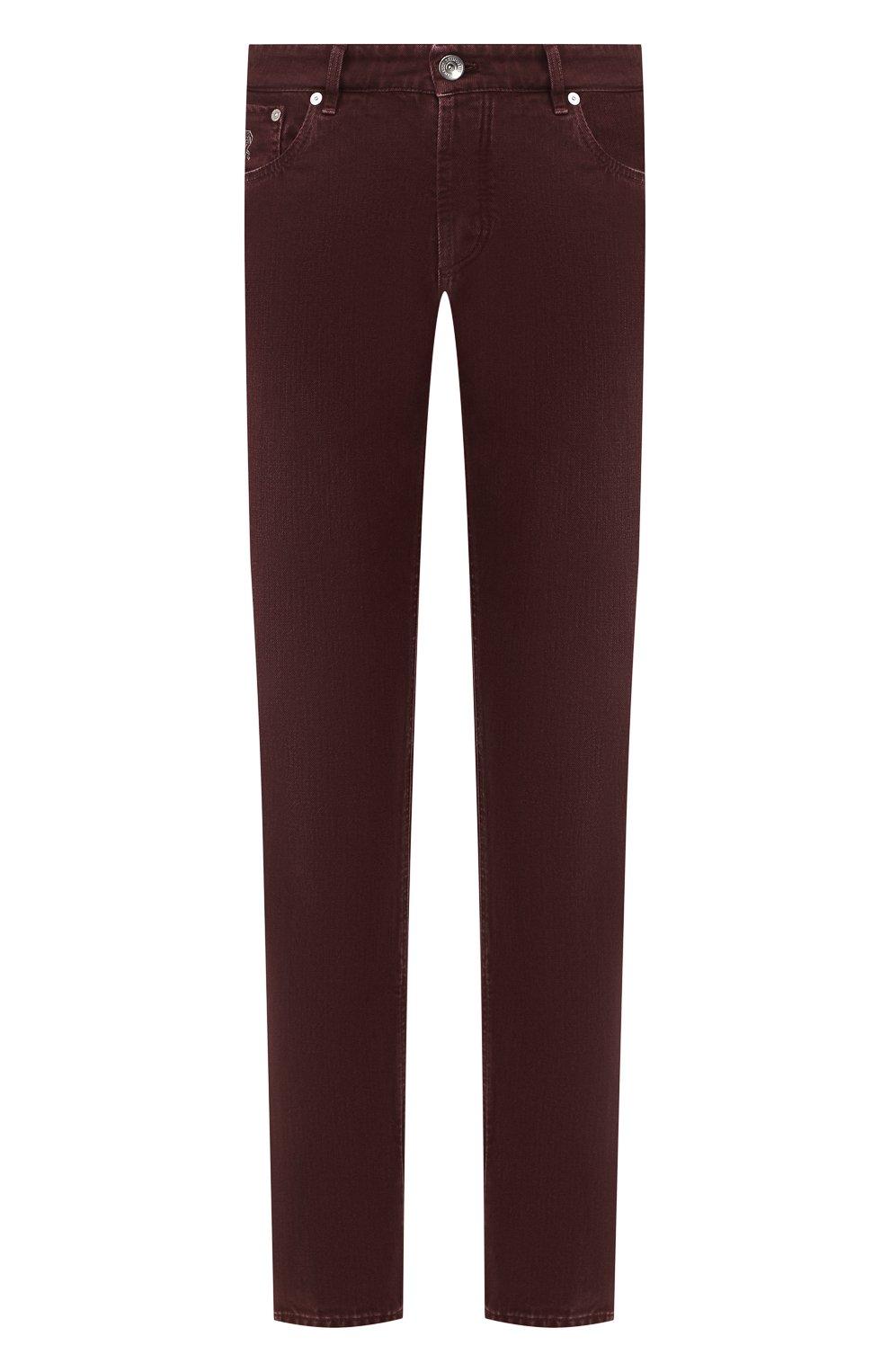 Мужские джинсы BRUNELLO CUCINELLI бордового цвета, арт. M051KB2210 | Фото 1