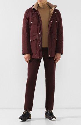 Мужские джинсы BRUNELLO CUCINELLI бордового цвета, арт. M051KB2210 | Фото 2