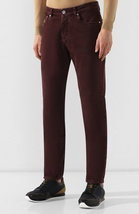 Мужские джинсы BRUNELLO CUCINELLI бордового цвета, арт. M051KB2210 | Фото 3
