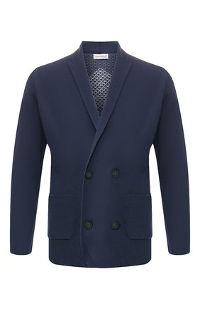 Мужской шерстяной пиджак JOHN SMEDLEY синего цвета, арт. SENTINEL | Фото 1