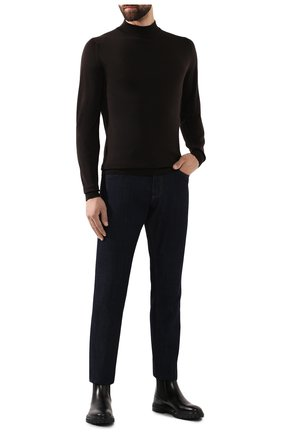 Мужской шерстяная водолазка JOHN SMEDLEY темно-коричневого цвета, арт. HARC0URT | Фото 2 (Материал внешний: Шерсть; Рукава: Длинные; Длина (для топов): Стандартные; Статус проверки: Проверено, Проверена категория; Принт: Без принта; Мужское Кросс-КТ: Водолазка-одежда)