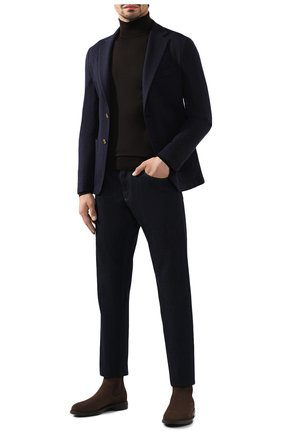 Мужской шерстяная водолазка JOHN SMEDLEY темно-коричневого цвета, арт. CHERWELL | Фото 2