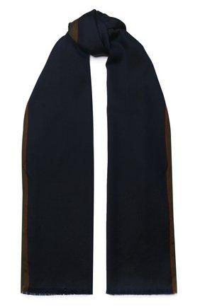 Мужской шарф из смеси кашемира и шелка LORO PIANA темно-синего цвета, арт. FAI7511 | Фото 1