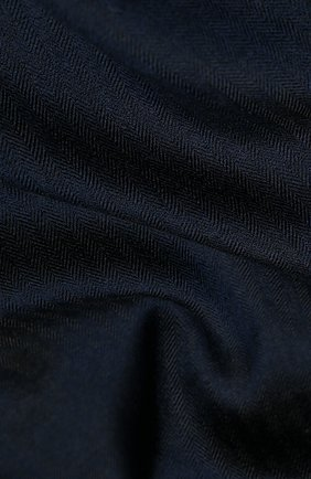 Мужской шарф из смеси кашемира и шелка LORO PIANA темно-синего цвета, арт. FAI7511 | Фото 2