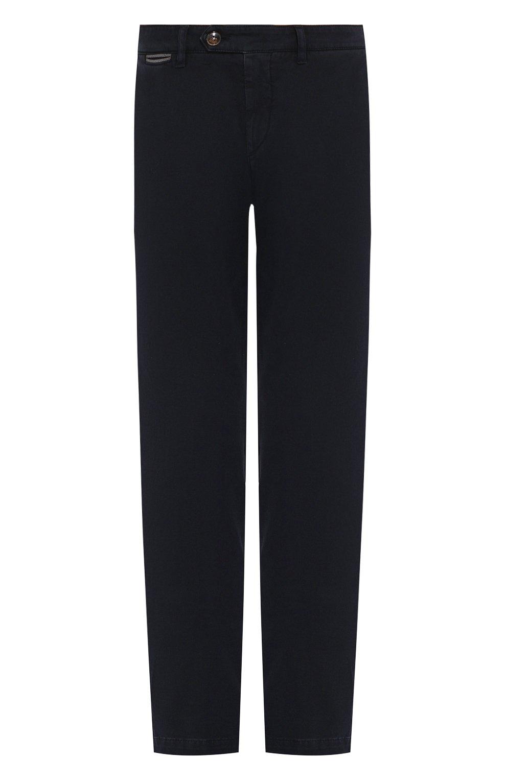 Мужские хлопковые брюки ELEVENTY UOMO темно-синего цвета, арт. 979PA0114 PAN24013 | Фото 1