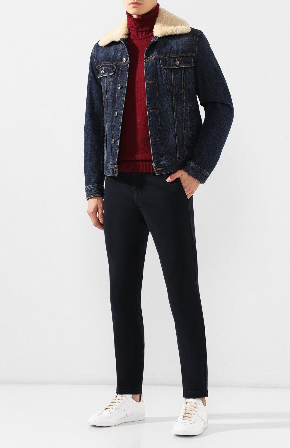 Мужские хлопковые брюки ELEVENTY UOMO темно-синего цвета, арт. 979PA0114 PAN24013 | Фото 2