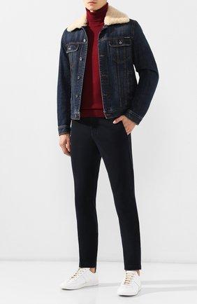 Мужской хлопковые брюки ELEVENTY UOMO темно-синего цвета, арт. 979PA0114 PAN24013 | Фото 2