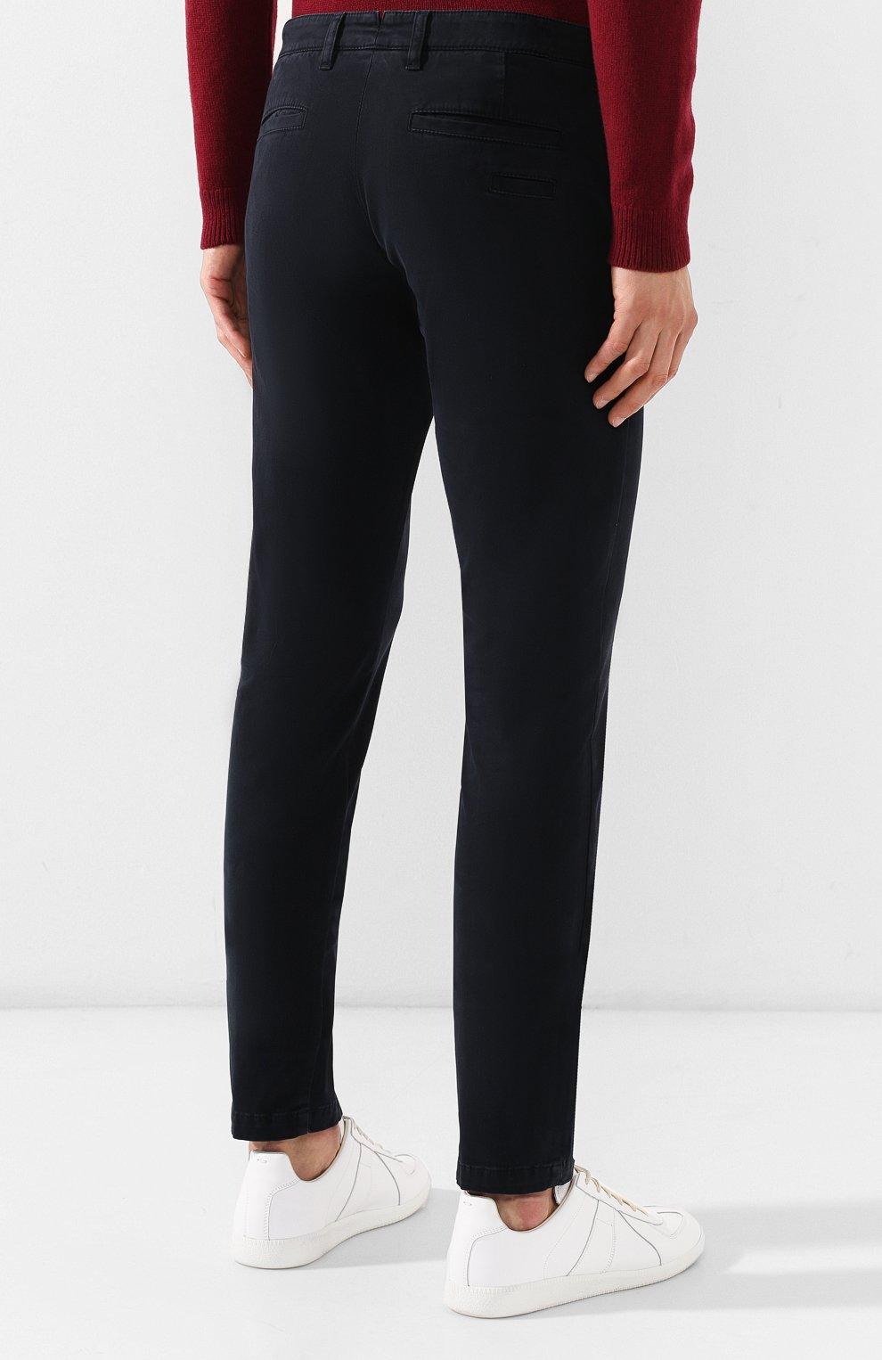 Мужские хлопковые брюки ELEVENTY UOMO темно-синего цвета, арт. 979PA0114 PAN24013 | Фото 4