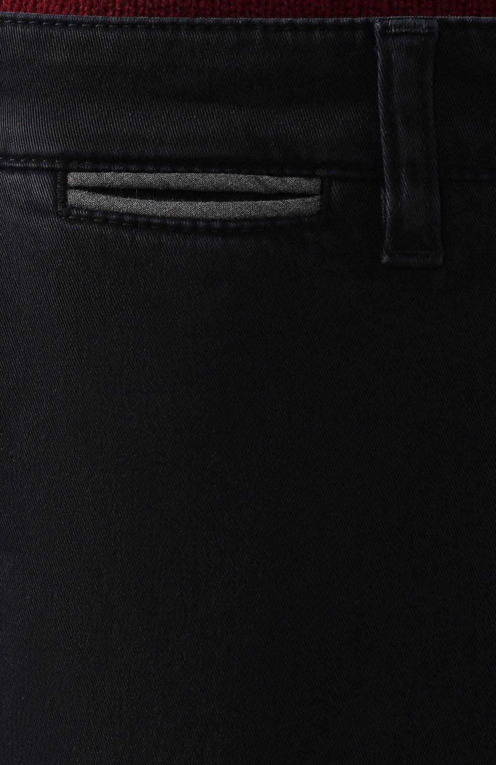 Мужские хлопковые брюки ELEVENTY UOMO темно-синего цвета, арт. 979PA0114 PAN24013 | Фото 5