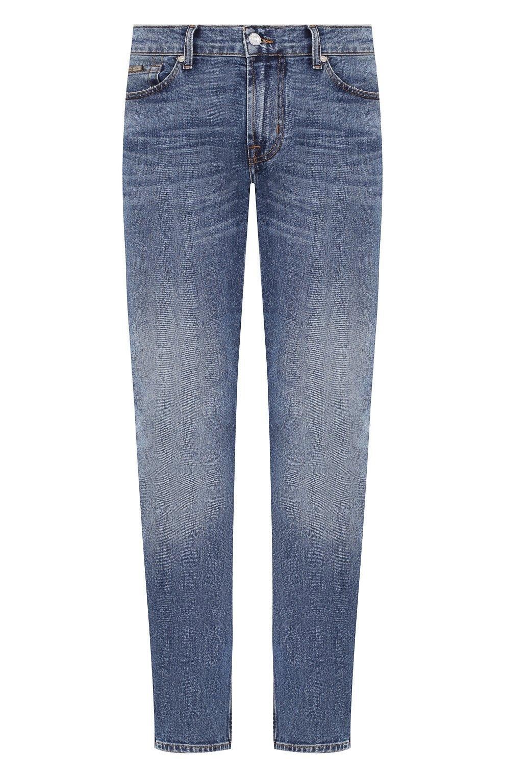 Мужские джинсы 7 FOR ALL MANKIND синего цвета, арт. JSD4L39RDH | Фото 1