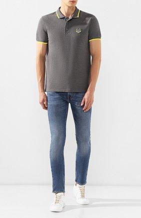 Мужские джинсы 7 FOR ALL MANKIND синего цвета, арт. JSD4L39RDH | Фото 2
