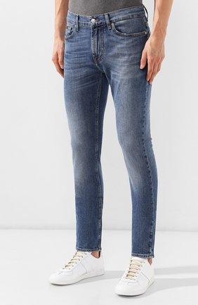 Мужские джинсы 7 FOR ALL MANKIND синего цвета, арт. JSD4L39RDH | Фото 3