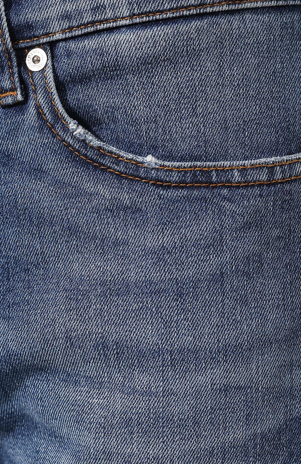 Мужские джинсы 7 FOR ALL MANKIND синего цвета, арт. JSD4L39RDH | Фото 5