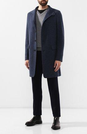 Мужской пуловер из смеси кашемира и шелка CRUCIANI темно-серого цвета, арт. CU487B.V03F6V   Фото 2