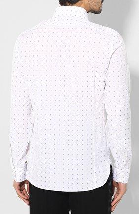 Мужская хлопковая рубашка GUCCI белого цвета, арт. 494722/ZAAES | Фото 4