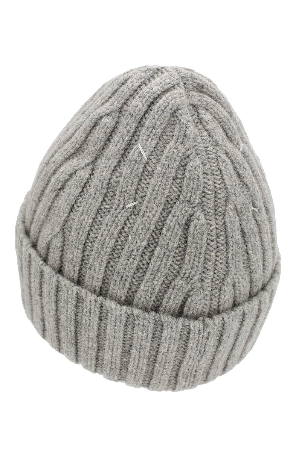 Мужская шерстяная шапка MAISON MARGIELA серого цвета, арт. S50TC0023/S16828   Фото 2