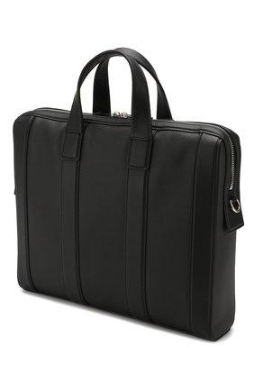 Мужской кожаный портфель BOTTEGA VENETA черного цвета, арт. 573484/VMAW1   Фото 3