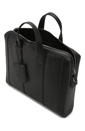 Мужской кожаный портфель BOTTEGA VENETA черного цвета, арт. 573484/VMAW1   Фото 4