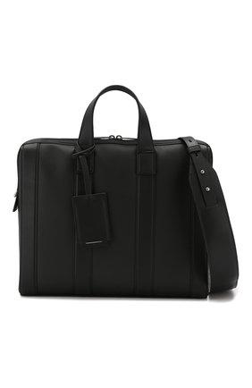 Мужской кожаный портфель BOTTEGA VENETA черного цвета, арт. 573484/VMAW1   Фото 5