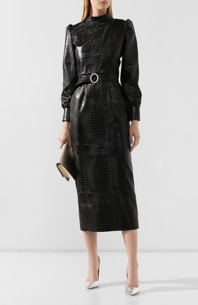 Женское платье с поясом GIUSEPPE DI MORABITO черного цвета, арт. PF19027LD-19-10   Фото 2