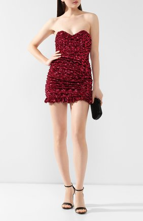Женское платье с пайетками GIUSEPPE DI MORABITO фуксия цвета, арт. PF19087DR-12-14   Фото 2