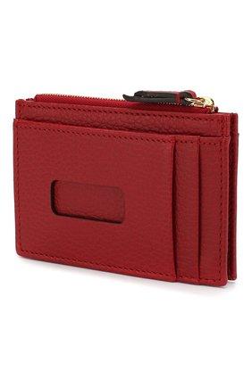 Женский кожаный футляр для кредитных карт GUCCI красного цвета, арт. 574804/CA00G | Фото 2