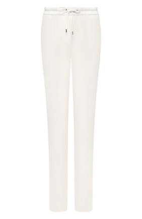 Женские брюки из смеси хлопка и шелка TOM FORD белого цвета, арт. PAJ045-FAX351 | Фото 1