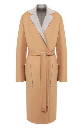 Женское кашемировое пальто LORO PIANA бежевого цвета, арт. FAI6793 | Фото 1