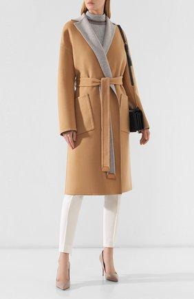 Женское кашемировое пальто LORO PIANA бежевого цвета, арт. FAI6793 | Фото 2