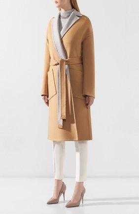 Женское кашемировое пальто LORO PIANA бежевого цвета, арт. FAI6793 | Фото 3