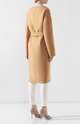 Женское кашемировое пальто LORO PIANA бежевого цвета, арт. FAI6793 | Фото 4