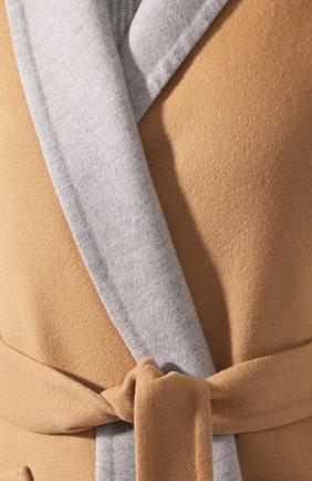 Женское кашемировое пальто LORO PIANA бежевого цвета, арт. FAI6793 | Фото 5