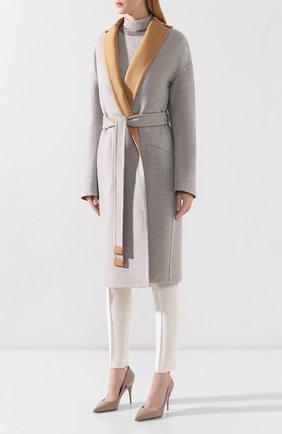 Женское кашемировое пальто LORO PIANA бежевого цвета, арт. FAI6793 | Фото 6