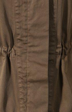 Хлопковая куртка Dries Van Noten хаки | Фото №5